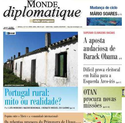 capa n18 edição portuguesa do le monde diplomatique