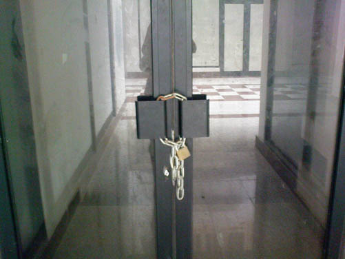 portas encerradas