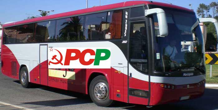 autocarro-camara-de-beja com logotipo do pcp