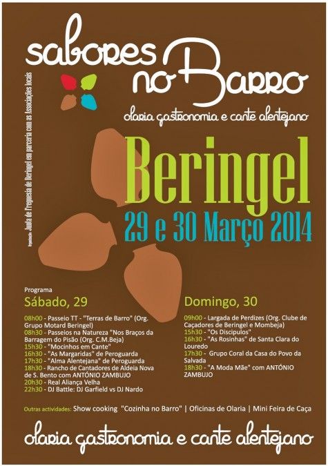 cartaz A3 SABORES NO BARRO